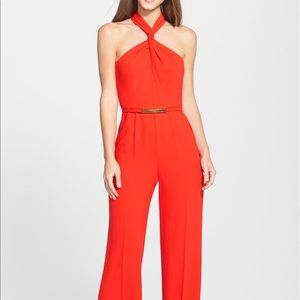 Trina Turk lady marmalade jumpsuit in poppy
